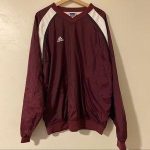 Adidas Pullover V Neck Cotton Lined Windbreaker XL